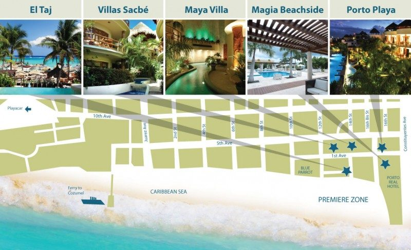 map of Laura's Beachfront Condos